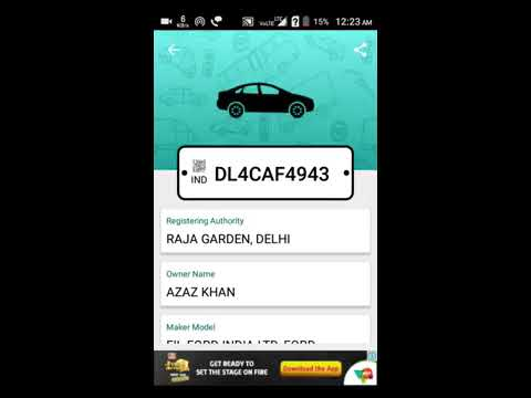 how to check car details with app car info