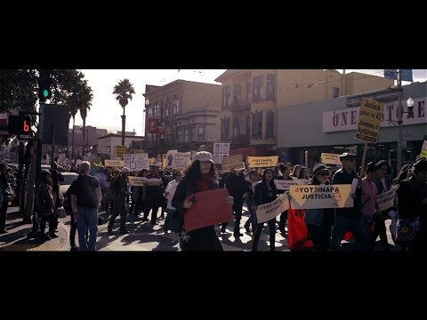 Protest In San Francisco For Missing Ayotzinapa Students
