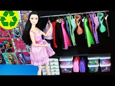DIY | Simple Doll Closet #1- Super easy doll crafts - simplekidscrafts