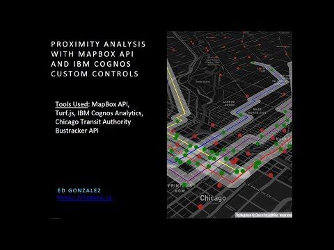 IBM Cognos Analytics Custom Controls and Advanced  Mapbox API features with JavaScript