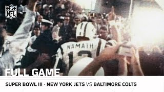 Super Bowl Iii Joe Namath S Guarantee Jets Vs Colts Nfl Full Game