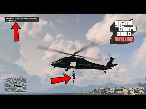 New Opportunities In GTA Online - Rappelling From A Helicopter (GTA 5)