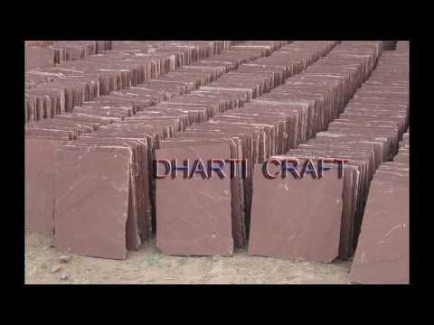Tan Brown Chocolate Sand Stone paving landscape wall tile by DHARTI CRAFT, INDIA
