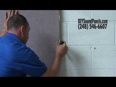 How to Finish a Wall with Acoustical Sound Panels