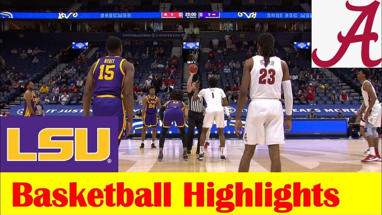 LSU vs Alabama Basketball Game Highlights, 2021 SEC Tournament Championship