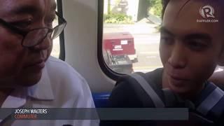 Harry Roque interviews MRT commuters