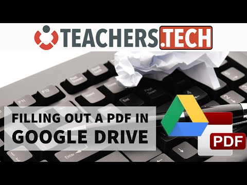 Google Drive - Edit and Sign PDF Documents