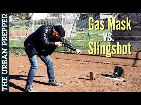 SGE 400/3 Gas Mask vs Sling Shot