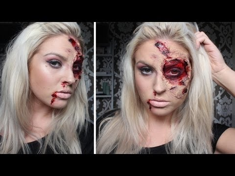♡ Burnt & Bloody SFX Makeup ♡ Halloween Tutorial - Liquid Latex