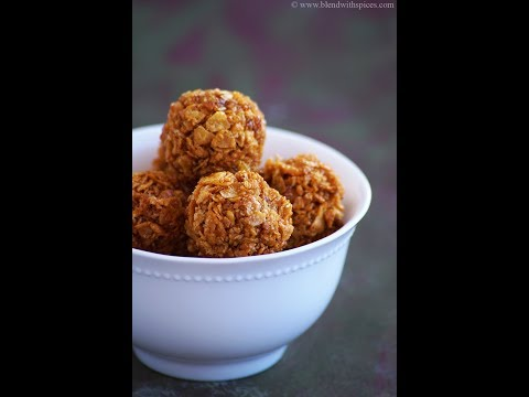 Corn Flakes Jaggery Laddu Recipe - Easy Indian Corn Flakes Recipes