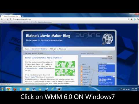 How to download windows movie maker 6 on windows7