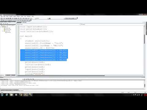 C++ Programming 41 - Structs in arrays