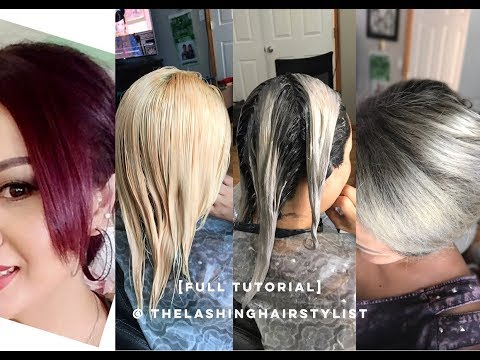 [FULL TUTORIAL] How to bleach red hair to root shadow/color melt ash blonde hair