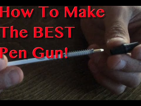 How To Make A Pen Gun With Any Pen (easiest way!)