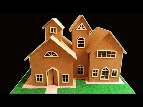 HOW TO MAKE 3D CARDBOARD HOUSE    BEAUTIFUL SMALL HOUSE    CRAFT IDEAS   