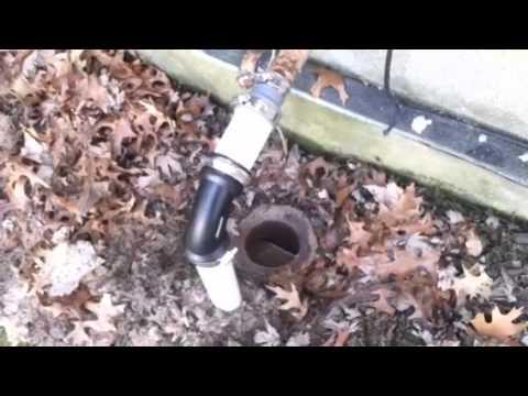 Outside drain