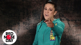 WWE Superstar Bayley supports the Red Nose Day School Challenge!