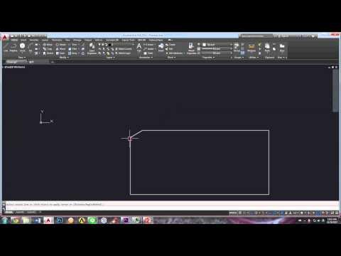 AutoCAD Tutorial - Chamfer Angle - WOFGA Production