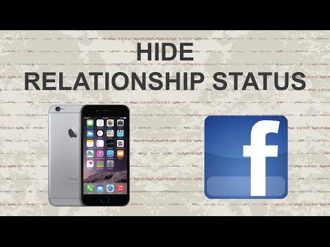 How to hide relationship status on Facebook mobile app