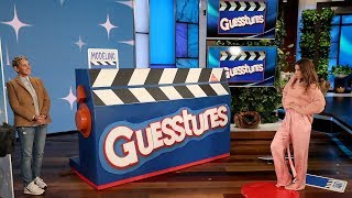Jessica Biel Plays 'Guesstures' with Ellen, tWitch and Kalen!