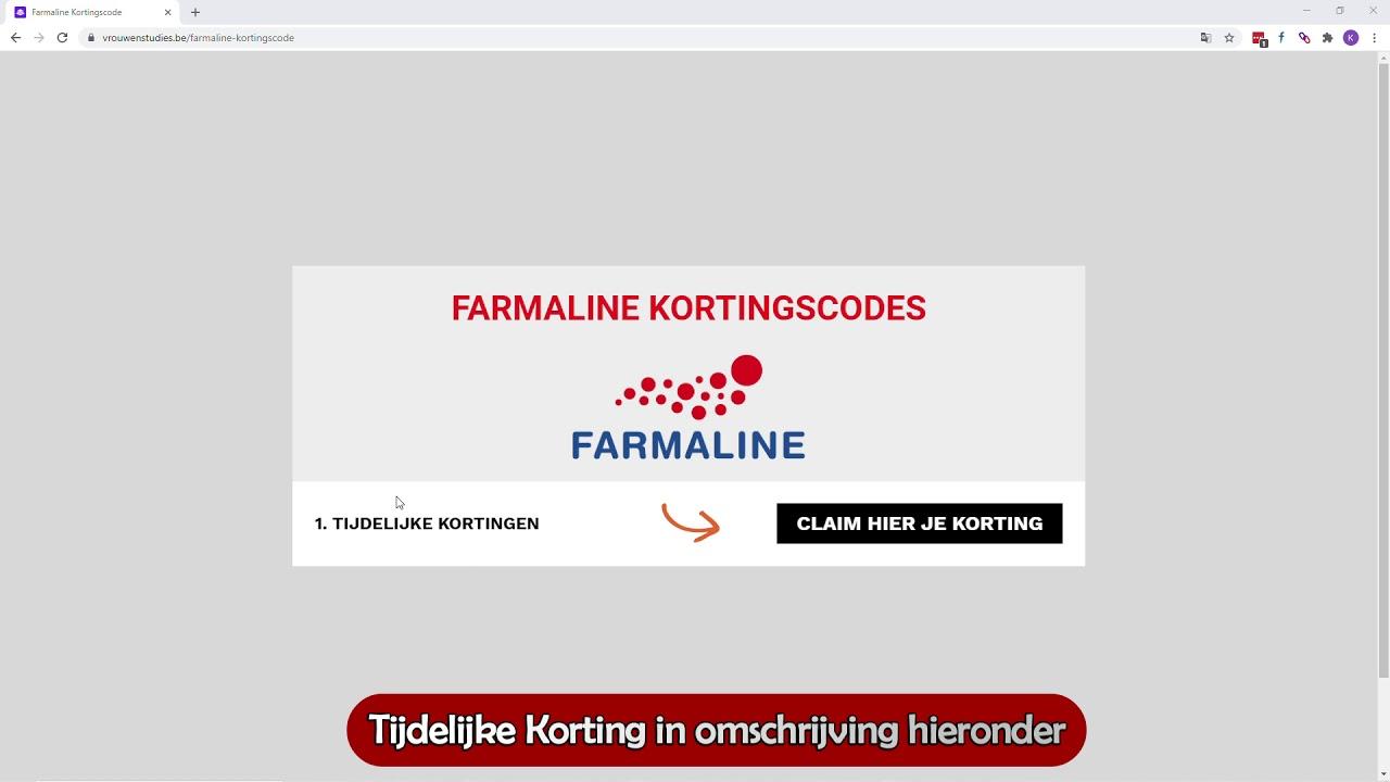 Farmaline Kortingscode