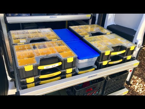 Service Van Pull Out Shelving System - Organizers & Storage