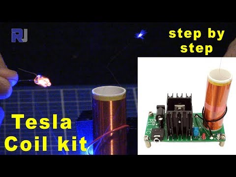 Tesla Coil Kit - Build step by step and test with music