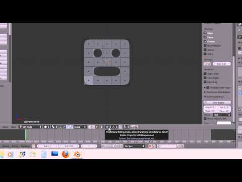 Andy's Step By Step Blender Tutorial 3 - Shape A Smiley Face