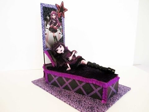 How to make a Elissabat doll bed Tutorial/ Monster High