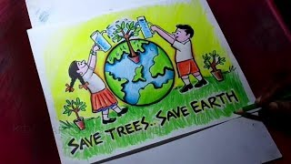 How To Draw Save Nature Save Environment Poster Drawing