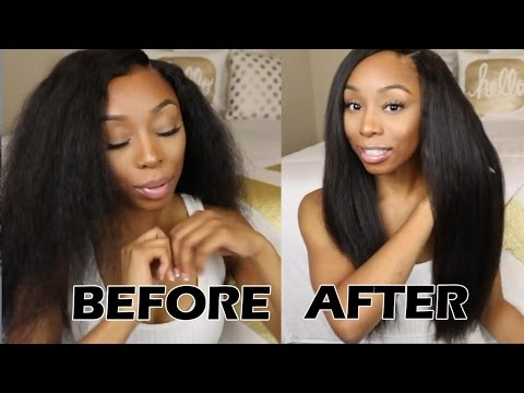 Start to Finish -Curly to Straight Hair Tutorial ft UNice Indian curly hair