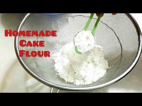 HOMEMADE CAKE FLOUR RECIPE. How to make Cake flour at home. Cake Flour substitute