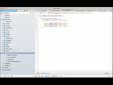 How to Pass Variables to Views in CodeIgniter