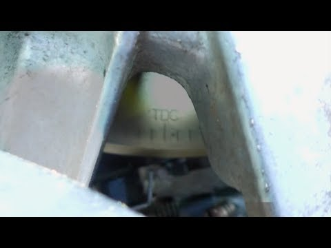 Using a timing light to set outboard ignition