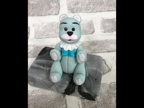 Sweet teddy figurine