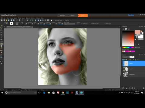 Coloring black and white photos with Corel EASY