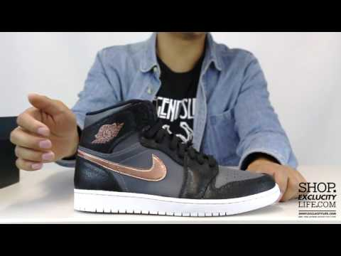 Air Jordan 1 High Retro Black - Metallic Bronze Unboxing Video at Exclucity
