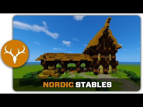Minecraft Building Tutorial : How to build  Nordic Stables