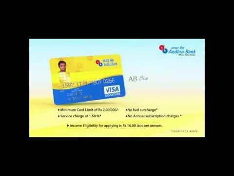 Andhra Bank Visa Signature Credit Card