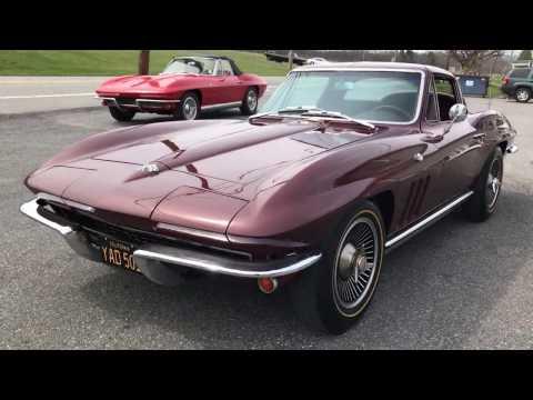 1965 corvette coupe Maroon/Maroon Black tag California Car unrestored all original #s match 300hp