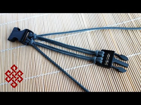 How to Make Four Strand Core Double Cow's Hitch Buckle Tutorial