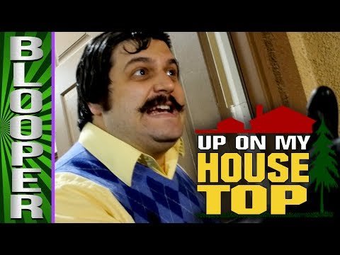 BLOOPERS from Up On My Housetop (Hello Neighbor Christmas Song)