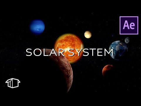 How to make a Realistic Solar System Tutorial - After Effects (No Plugins)