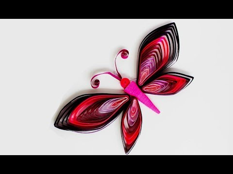 How to make butterfly with quilling paper || DIY Craft Ideas