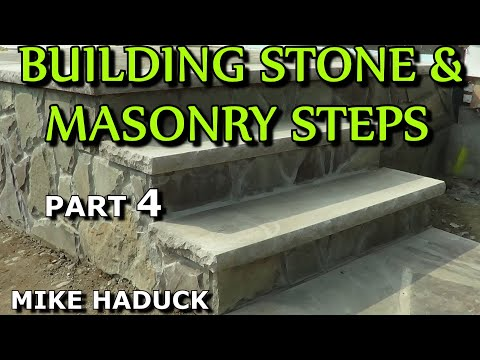 How I build stone or masonry steps (part 4 of 14) Mike Haduck