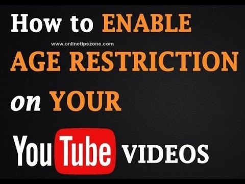 How to add Age Restriction for YouTube Video | Parental Controls