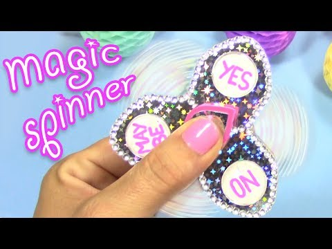 DIY HOW TO MAKE A MAGIC FIDGET SPINNER! ASK THE MAGIC SPINNER!