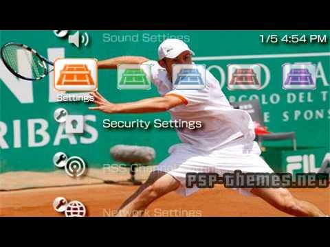 PSP Theme tennis PSP-Themes.NET