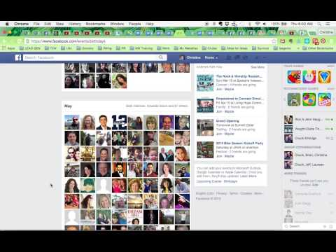 How-To Find Upcoming Birthdays On Facebook
