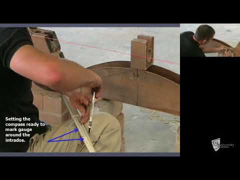 Constructing segmental brick arch (Part 3 of 5)